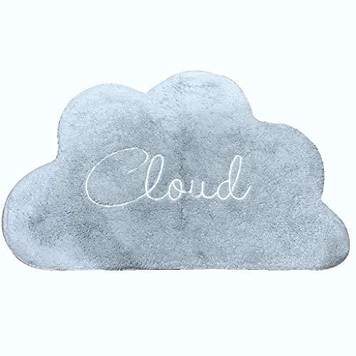 Ann-Rugs Alfombra Suave para salón con diseño de Letras en Forma de Nube, algodón, Absorbente y Antideslizante...