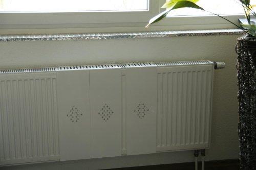 Heizkörper-Verkleidung, 62 x 20 cm Design: Raute, weiß (Set= 3 Stück)