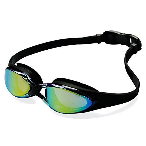 Große Box Galvanik FlatSwimming Goggles Gläser Wasserdicht Anti-Fog High-Definition Männlich Weiblich,Black