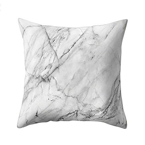 Ronamick Kissenbezug Kissenhülle 45x45 cm Geometrische Marmor Textur Dekokissen Fall Kissenbezug Sofa Home Decor (H) -