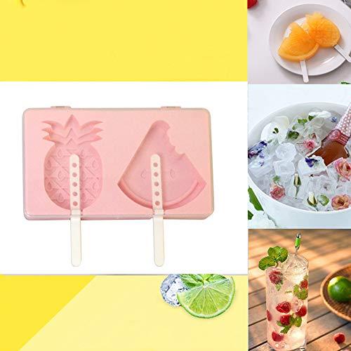 Webla Creativo muffa del ghiacciolo della muffa di sicurezza della muffa della macchina del gelato del cubo di ghiaccio,19x11x2,5 cm