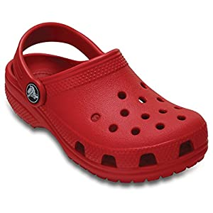 Crocs Classic Girls Clog in Red
