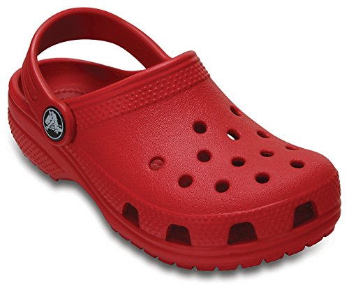 Crocs Classic Girls Clog in Red