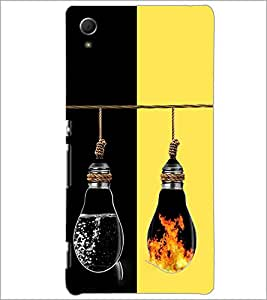 PrintDhaba water and Fire Bulbs D-2926 Back Case Cover for SONY XPERIA Z4 (Multi-Coloured)
