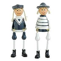 Long Leg Dolls 2Pcs Sitting Puppet Wooden Figurine Toy Creative Hanging Dolls Home Ornament