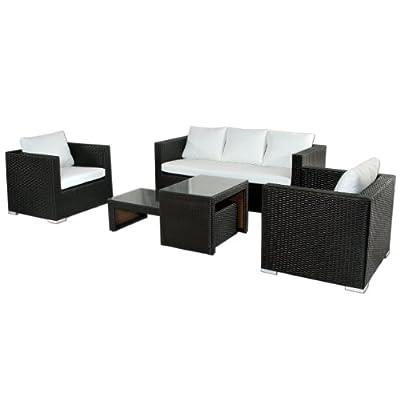 Polyrattan Lounge Santo Domingo (braun)