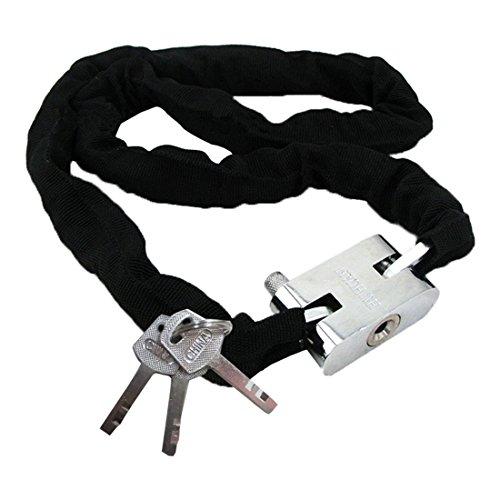 theft-chain-toogoor-catena-antifurto-metallo-scooter-moto-bici-rivestito-lucchetto-con-3-chiavi-nero
