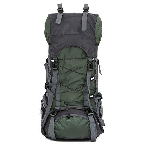 Große Reise Wandern Camping Hochleistungs Rucksack Rucksack Urlaub Gepäck Tasche,Black Armygreen