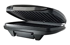 Nova NSG 2441 750-Watt 2 Slice Panni Grill (Black and Silver)