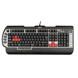 A4TECH X7-G800V Programmierbare Gaming-Tastatur schwarz/silber