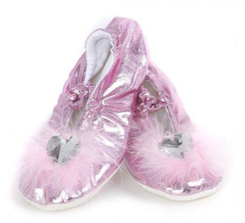 Trullala Prinzessinnen-Slipper, Ballerina, Faschingskostüm, verschiedene Farben und Größen zur Auswahl rosa