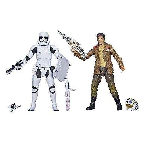 Star Wars Black Series Action Figure Figura 2 Pack 2015 Poe Dameron e Stormtrooper Exclusive 15 cm Hasbro