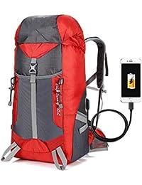 d3280f4560 Zaini da escursionismo LIUSIYU Zaino Trekking Trekking tattico con USB,  Outdoor Caccia Grande Zaino Ultraleggero