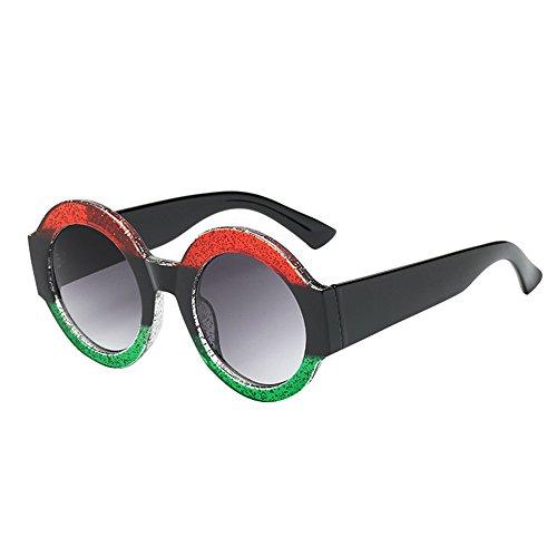 TUDUZRetro Square Sonnenbrille Gradient Lens Outdoor Polarisierte Sonnenbrille für Damen Herren (Mehrfarbig-C)