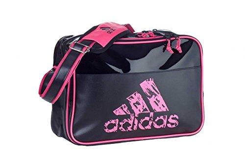 Adidas Schultertasche / Umhängetasche / Leisure Messenger mit Schultergurt / FARBAUSWAHL / GRÖßENAUSWAHL (S, BLACK-PINK)