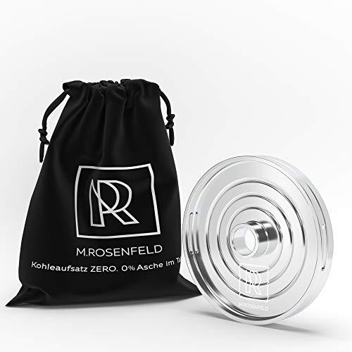 M. ROSENFELD NEU! Shisha Kaminaufsatz Zero - Innovative Shisha Smokebox Kohleaufsatz HMD für bis zu 4 Shishakohle Würfel | Keine Asche im Tabak| Universal Kohlesieb für Tabakkopf