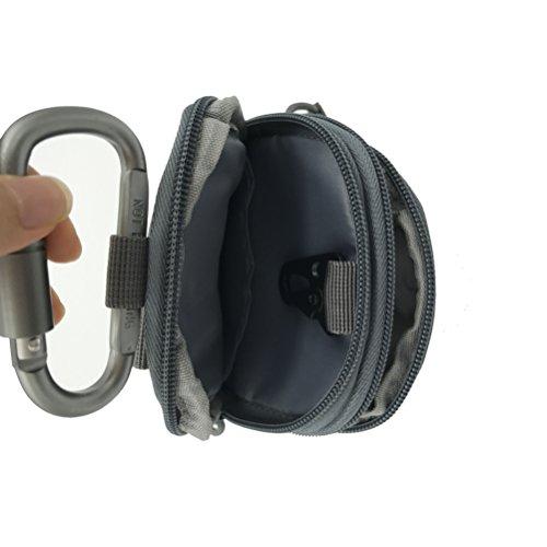 Taktische Hüfttaschen molle tasche Gürteltasche MOLLE EDC Beutel Militär ideal für Outdoorsport Multifunktionen praktische Ausrüstung mit extrafreiem Aluminiumkarabiner Manufacturer: Unigear ACU Camouflage