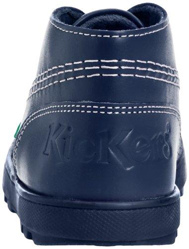 Kinder LTHR Unisex Stiefel Blau Kickers IU Dark Blue Plunk Boot vcpq7X