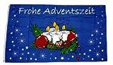 Fahne / Flagge Frohe Adventszeit Advent Weihnachten 90 x 150 cm