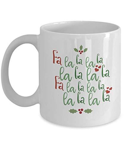Christmas Mug Holiday Mug Fa La La La La Christmas Carol Mug Christmas Song Lyric Stocking Stuffer Xmas Coffee Mug Secret Santa Gift Cup Coffee Mug 11 oz