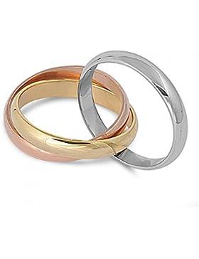 Ring aus rostfreiem Stahl - Dreifaches Band