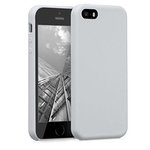 kwmobile Apple iPhone SE / 5 / 5S Hülle - Handyhülle für Apple iPhone SE / 5 / 5S - Handy Case in Hellgrau matt