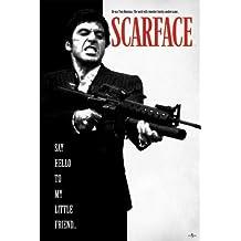 Motiv American Gangster Tony Montana Scarface A2-24 x 16 Inch EACanvas Kunstdruck auf Leinwand