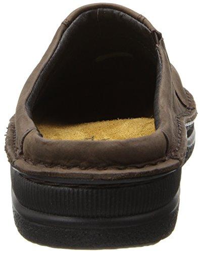Naot Mens Bjorn Leather Sandals Marron