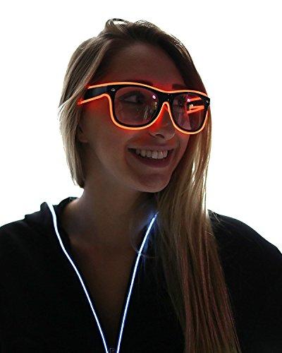 tankerstreet Light Up Brillen El Draht blinkende LED-Lichtleiste mit Akku Fernbedienung (Für Und Halloween Kostüme Einfache Schnelle Babys)