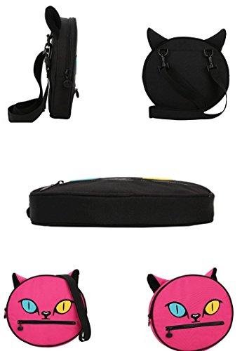 zarapack, Borsa a tracolla donna, Pink (rosa) - BA970 Black