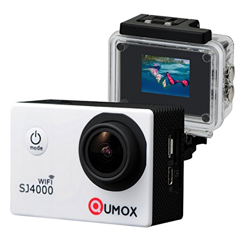 QUMOX WIFI Actioncam SJ4000 Action Sport Kamera Camera Waterproof Full HD 1080p Video Helmkamera Wei? - 4000 Wifi Sjcam