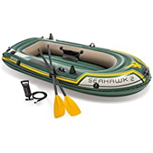 Intex - Barca hinchable Intex seahawk 2 & remos - 236x114x41 cm - 68347NP