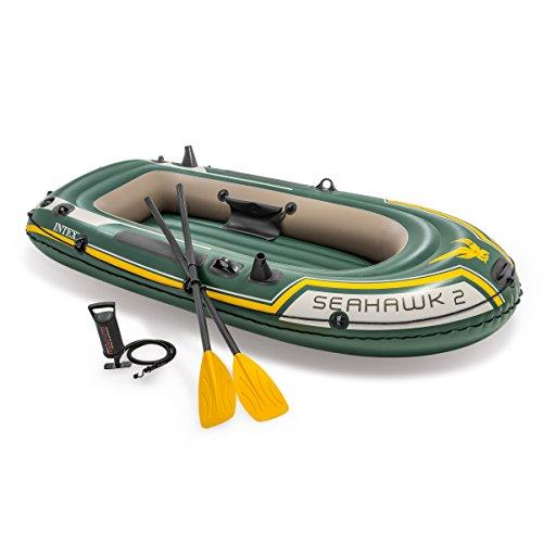 Intex Boot Seahawk 2 Set, grün, 236 x 114 x 41 cm / 4-teilig (Boot-set Baby)