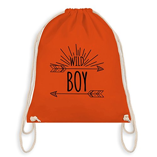 Up to Date Kind - Wild Boy - Unisize - Orange - WM110 - Turnbeutel I Gym Bag