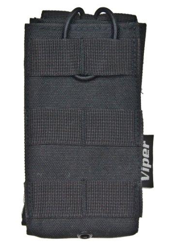 VIPER QUICK-RELEASE MAG POUCH - SINGLE MOLLE M4 M16 MAG POUCH - BLACK (M16 Single Mag Pouch)