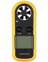 anemometre numerique - SODIAL(R)AR816 numerique anemometre Speed ??Meter 'Orange Vent