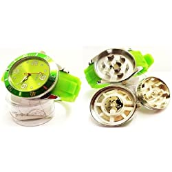 Stash Watch Grinder Real Size Real Grinder *** Six Colors Available *** (Green)