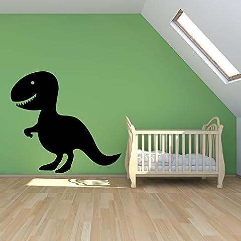 Cartoon dinosauro Wall Sticker bambini Adesivo Art disponibile in 5 dimensioni e 25 colori Extra Grande Bianco