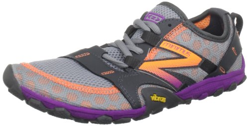 Balance - Womens Minimus 10V2 Trail Minimal Running Shoes Width D, Silver with Purple