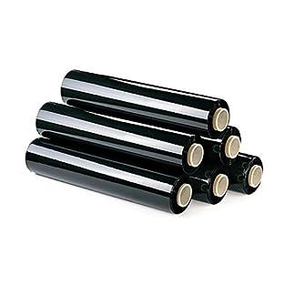 6 Rollos film estirable manual 23my, 2 kg (Negro)