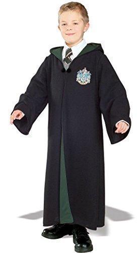 Mädchen Jungen Harry Potter Hermine Grainger Deluxe Kapuzen-bademantel Büchertag Halloween Kostüm Kleid Outfit - Slytherin, 3-4 Years