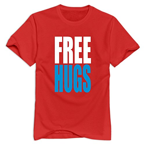 KST Herren T-Shirt Braun Rot (Herren Baseball Free Hugs)