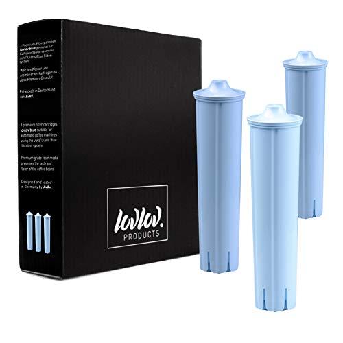 3er-Pack lovlov Premium Filterpatronen passend für Jura Claris Blue | 3 Wasserfilter Kartuschen für Kaffeevollautomaten
