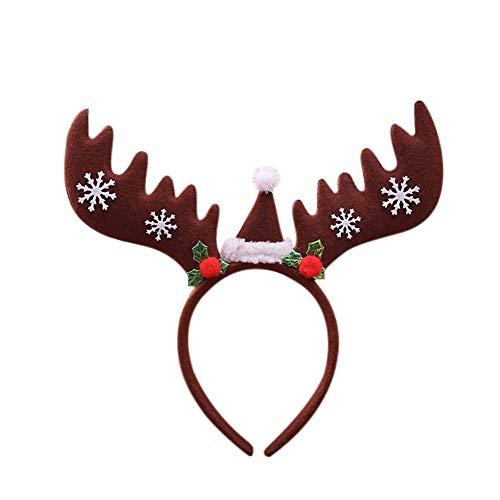 PerGrate perg Transferencia Navidad Lentejuelas Cuerno de Cinta Reno Pelo Banda Vacaciones Fiesta Accesorios