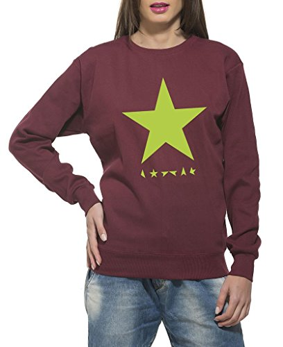 Clifton Women's Printed Sweat Shirt R-neck -Maroon -Green Star-XL
