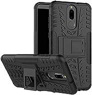 Huawei Mate 10 Lite Kılıf Sert Silikon Standlı Anti Shock Full Koruma Siyah