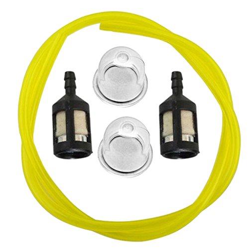 Preisvergleich Produktbild Blesiya 4-Fuß Benzin Kraftstoffschlauch Mit Kraftstofffilter Zündkerze Kit Für Kettensäge