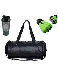 Hyper Adam AN-304 Stylish Multi-purpose Gym Bag, Protein Shaker And Gym Glove With Wrist Support Combo