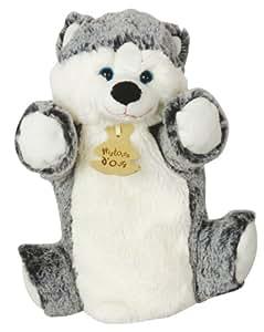 Histoire d Ours - Marionnette Zanimoos Husky 25cm