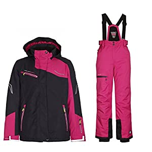 Killtec Skianzug Kinder Schneeanzug Wasserdicht schwarz pink